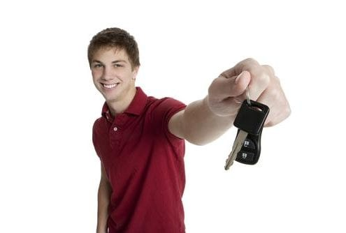 boy with car keys